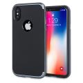 Olixar XDuo iPhone X Case - Carbon Fibre Metallic Grey