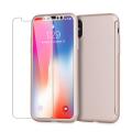 Olixar X-Trio Full Cover iPhone 8 Case Hülle Rose Gold