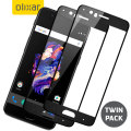 Olixar OnePlus 5 Full Cover Tempered Glass Screen Protector - 2 Pack
