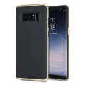 Olixar XDuo Samsung Galaxy Note 8 Case - Carbon Fibre Gold