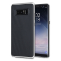 Olixar X-Duo Samsung Galaxy Note 8 Case - Carbon Fibre Silver