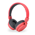 Bitmore Classic On-Ear Folding Headphones with Mic and Remote - Red
