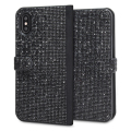 LoveCases Luxury Diamond iPhone X Wallet Case - Black