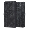 LoveCases Luxury Diamond iPhone 8 Plus / 7 Plus Wallet Case - Black