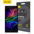 Olixar Razer Phone Displayfolie 2-in-1 verpakking