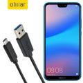 Olixar USB-C Huawei P20 Lite Charging Cable - Black 1m