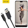 Olixar USB-C Huawei P20 Charging Cable - Black 1m
