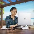 Olixar ErgoRiser Aluminium MacBook Portable Riser Stand - Silver