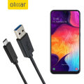 Olixar USB-C Samsung Galaxy A50 Charging Cable - Black 1m