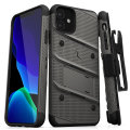 Zizo Bolt Series iPhone 11 Case & Screen Protector - Grey/Black