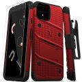 Zizo Bolt Series Google Pixel 4 Case & Screen Protector - Red / Black