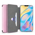 Olixar Soft Silicone iPhone 12 Wallet Case - Pastel Pink