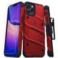 Zizo Bolt Series iPhone 12 Pro Tough Case - Red