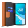 Olixar Leather-Style OnePlus 8T Wallet Stand Case - Brown