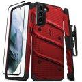 Zizo Bolt Samsung Galaxy S21 Plus Tough Case & Screen Protector - Red