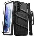Zizo Bolt Samsung Galaxy S21 Tough Case & Screen Protector - Black