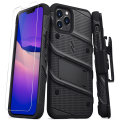 Zizo Bolt iPhone 13 Pro Max Protective Case & Screen Protector - Black