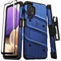 Zizo Bolt Samsung Galaxy A32 5G Tough Case With Tempered Glass - Blue