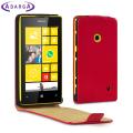 Adarga Leather Style Nokia Lumia 525 / 520 Flip Case - Neon Red