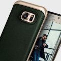 Caseology Envoy Series Galaxy S7 Edge Case - Green Leather