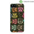 Create and Case Hardcase for iPhone 5S / 5 - Sherbert Owls