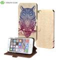 Create and Case iPhone 6S Plus / 6 Plus Book Case - Warrior Owl