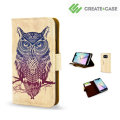 Create and Case Samsung Galaxy S6 Edge Book Case - Warrior Owl