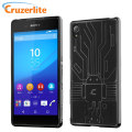 Cruzerlite Bugdroid Circuit Sony Xperia Z3+ Gel Case - Black