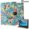 Encase Vintage Flower iPad Air 2 Case - Light Blue