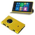 FlexiShield Leather-Style Nokia Lumia 1020 Wallet Case - Yellow