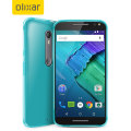 FlexiShield Motorola Moto X Style Gel Case - Blue