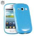 FlexiShield Samsung Galaxy Fame Gel Case - Blue