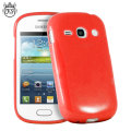 FlexiShield Samsung Galaxy Fame Gel Case - Red
