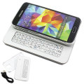 Galaxy S5 Magnetic Bluetooth QWERTY keyboard Case - White
