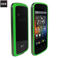 GENx Hybrid Bumper Case for Google Nexus 4 - Green