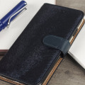 Hansmare Calf iPhone 7 Wallet Case - Navy Blue