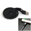 Happy Braided Light-up 1m Lightning Cable - Black