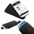 Leather Style Slip Pouch For Samsung Galaxy S4 - Black