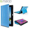 Maroo Leather Folio Case for Surface Pro 2 / Pro - Azure Blue