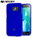 Mercury Goospery Jelly Samsung Galaxy S6 Edge Plus Gel Case - Blue