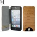 Mischa Barton Luxury Croc Leather Case for iPhone 5S / 5 - Brown