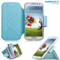 Momax The Core Leather Smart Case for Samsung Galaxy S4 - Blue