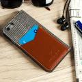 Moncabas Liza Genuine Leather iPhone 6S / 6 Wallet Case - Grey