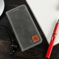 Moncabas Vintage Genuine Leather iPhone 6S / 6 Wallet Case - Grey
