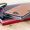 Mozo Microsoft Lumia 650 Leather-Style Flip Cover - Cognac