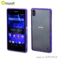 Muvit Bimat Back Case for Sony Xperia Z2 - Clear / Purple