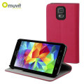 Muvit Folio Stand Case for Samsung Galaxy S5 - Pink