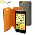 Muvit Magic Folio 2-in-1 Case & Cover for iPhone 5C - Grey & Orange