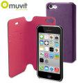 Muvit Magic Folio 2-in-1 Case & Cover for iPhone 5C - Purple & Pink