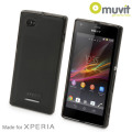 Muvit miniGEL Case for Sony Xperia M - Black